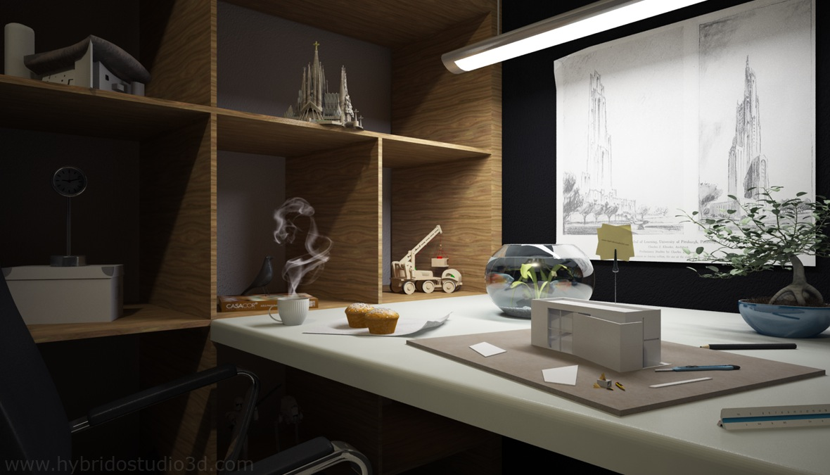 Cool-Workspaces-Design-with-Artistic-Creativity-Image-09-Black-Gray ...