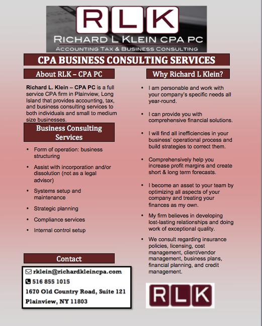 RLK Consulting Sheet